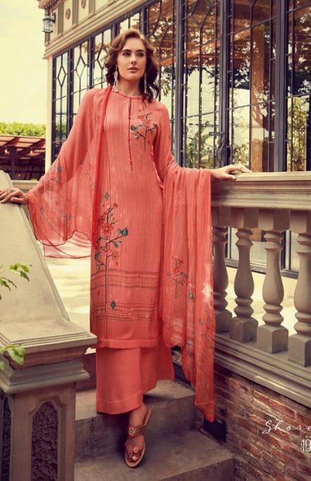 Sahiba Esta Designs Presents Shore Pashmina Dobby Printed With Handwork Suits 1007