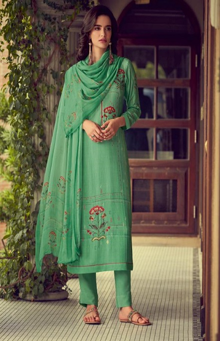 Sahiba Esta Designs Presents Shore Pashmina Dobby Printed With Handwork Suits 1008
