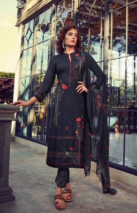 Sahiba Esta Designs Presents Shore Pashmina Dobby Printed With Handwork Suits 1009
