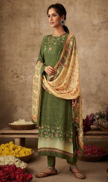 Sahiba Itrana Art Of Weave Pure Pashmina Digital Printed Handwork Salwar Suit 314