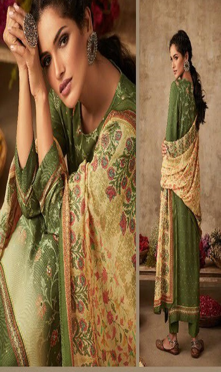 Sahiba Itrana Art Of Weave Pure Pashmina Digital Printed Handwork Salwar Suits 314