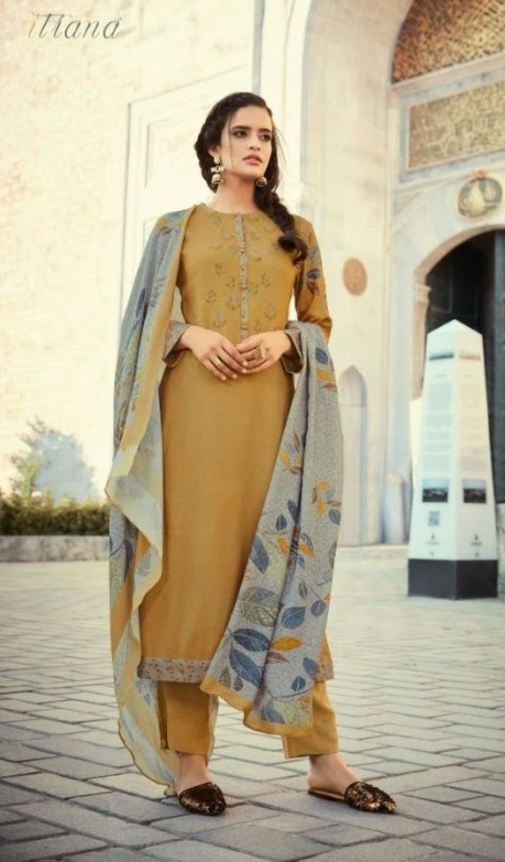 Sahiba Itrana Presents Leaves Winter Collection Pashmina Twill Digital Printed Embroidered Suit 115