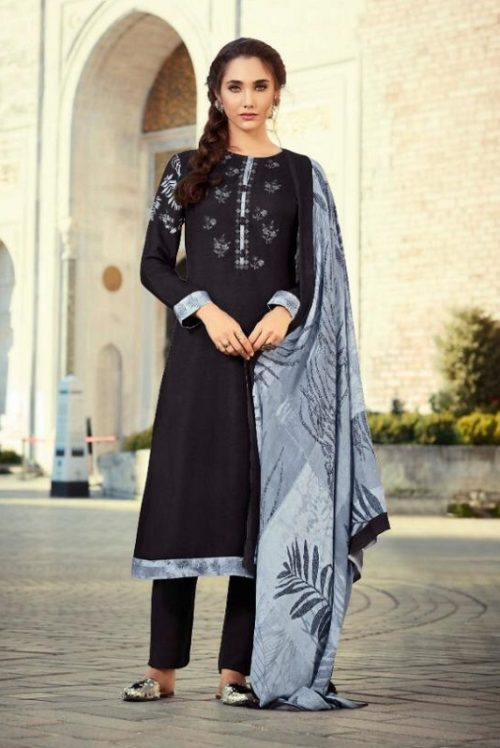 Sahiba Itrana Presents Leaves Winter Collection Pashmina Twill Digital Printed Embroidered Suit 125
