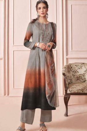 Sahiba Presents Rhythm Pure Pashmina Digital Print With Embroidery Winter Suits For Women 608