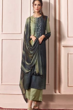 Sahiba Presents Rhythm Pure Pashmina Digital Print With Embroidery Winter Suits For Women 635