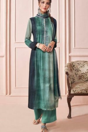 Sahiba Presents Rhythm Pure Pashmina Digital Print With Embroidery Winter Suits For Women 675