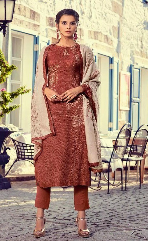 Sahiba Sarg Presents Paisley Run Pure Pashmina Digital Print With Handwork Salwar Suit 417