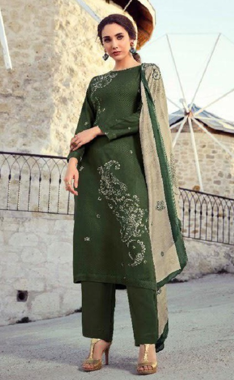 Sahiba Sarg Presents Paisley Run Pure Pashmina Digital Print With Handwork Salwar Suit 490