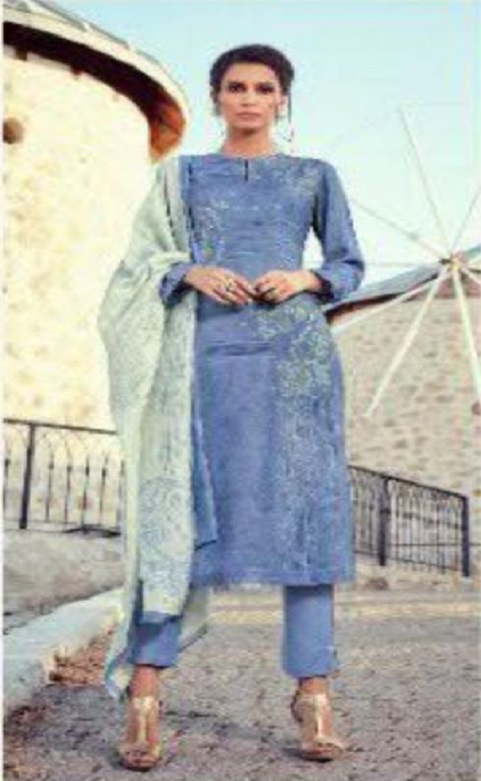 Sahiba Sarg Presents Paisley Run Pure Pashmina Digital Print With Handwork Salwar Suits 428