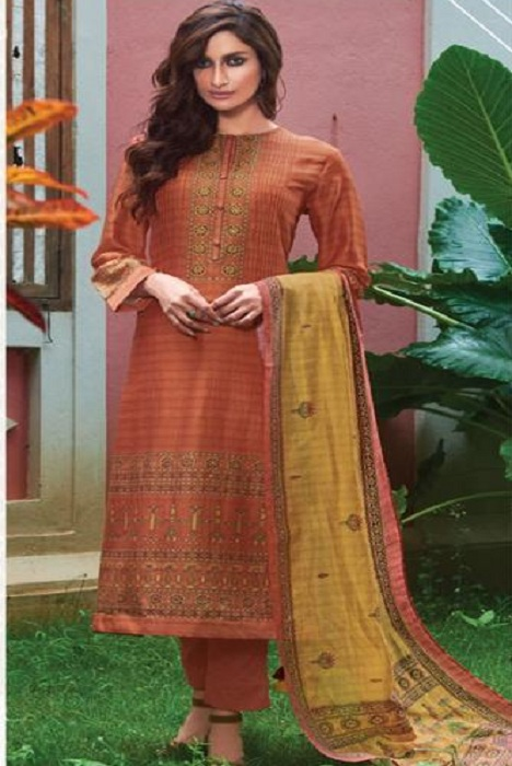 Sahiba Sarg Surmayi Pure Pashmina Digital Print With Handwork Salwar Suit 1990