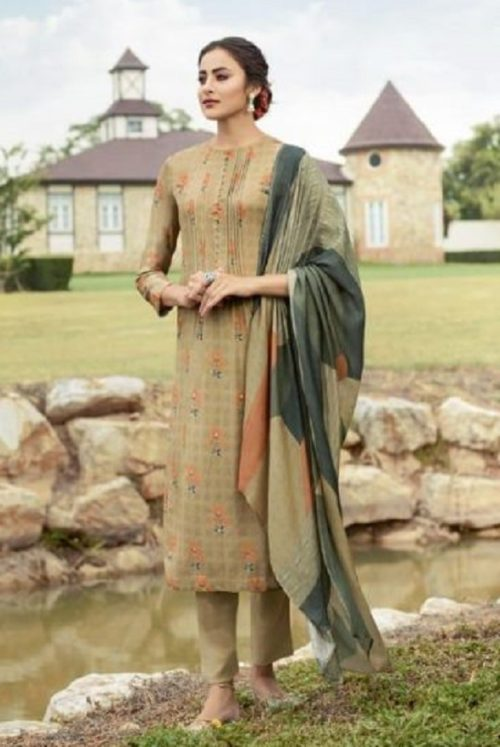 Sahiba Sudriti Presents Fanoos Pashmina Digital Print With Handwork Salwar Suit 825