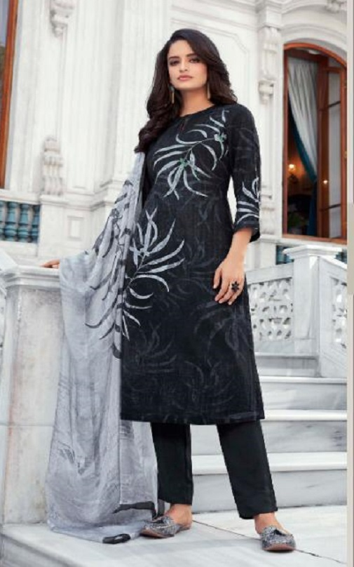 Sahiba T&M Presents Amora Pashmina Twill Digital Print With Handwork Salwar Suits For Women 471