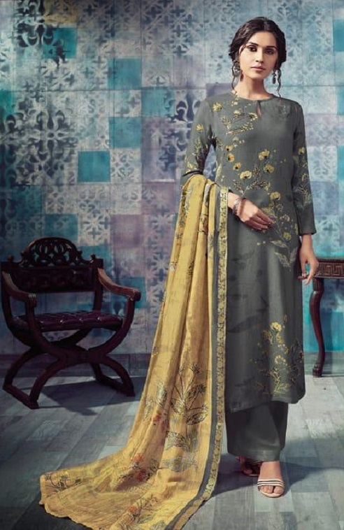 Sahiba T&M Presents Bloom Winter Collection Pashmina Printed Ladies Salwar Suit 918