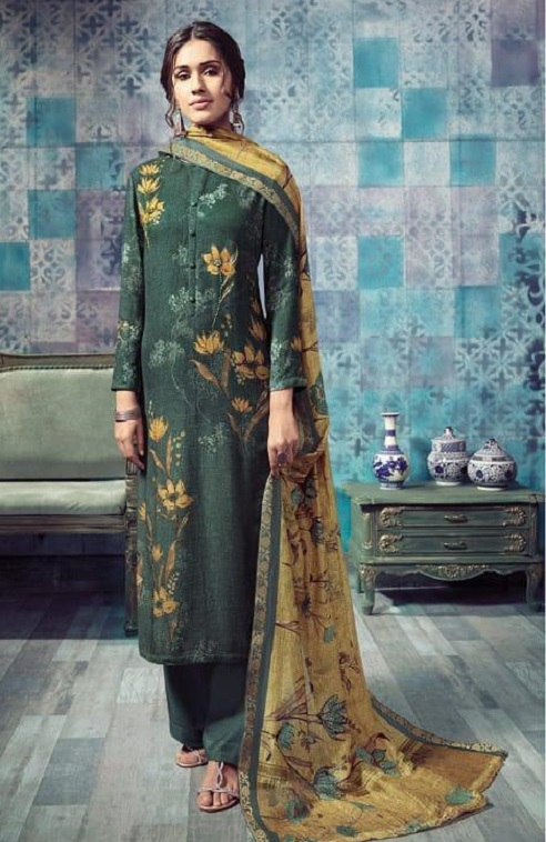 Sahiba T&M Presents Bloom Winter Collection Pashmina Printed Ladies Salwar Suit 936
