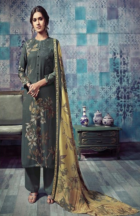 Sahiba T&M Presents Bloom Winter Collection Pashmina Printed Ladies Salwar Suit 988