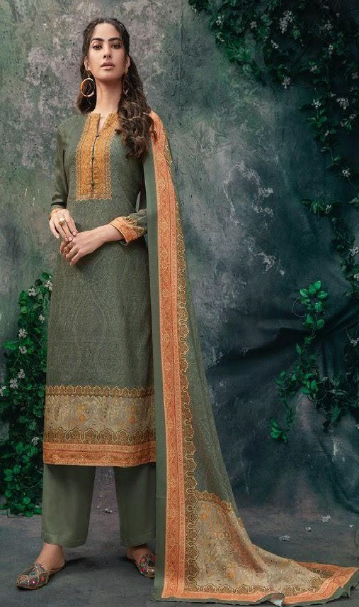Sahiba Tiara Pashmina Digital Printed Unstitched Winter Suit 911