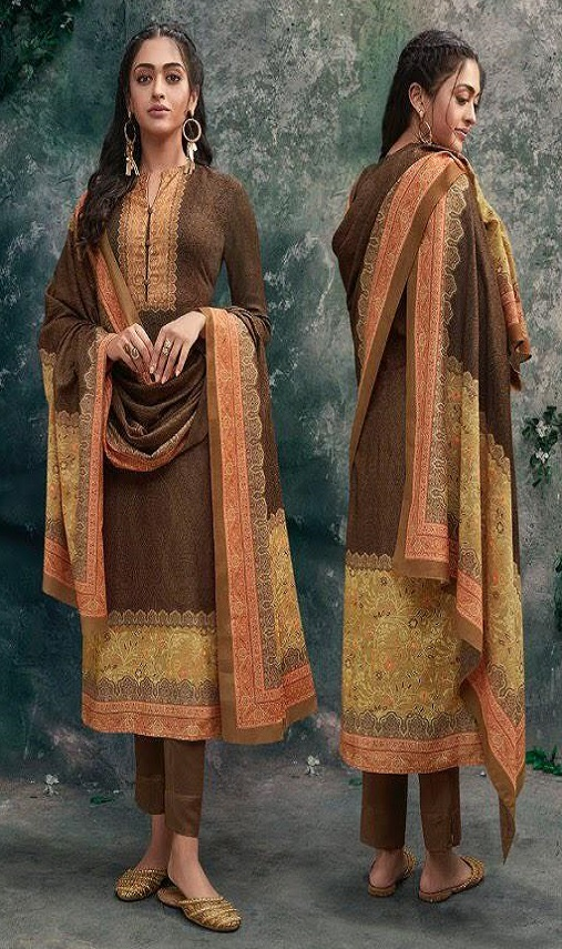 Sahiba Tiara Pashmina Digital Printed Unstitched Winter Suit 967