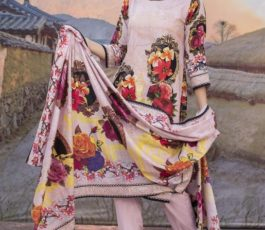 Sahil Printed Cotton Collection 2019 With Printed Lawn Dupatta and Dyed Trouser Original Pakistani Suit 18