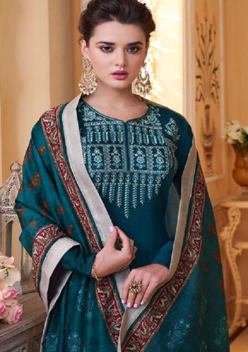 Sajawat Creation Presents Sarthi Vol 09 Readymade Malin Embroidered Suit Collection With Palazzo and Dupatta 761