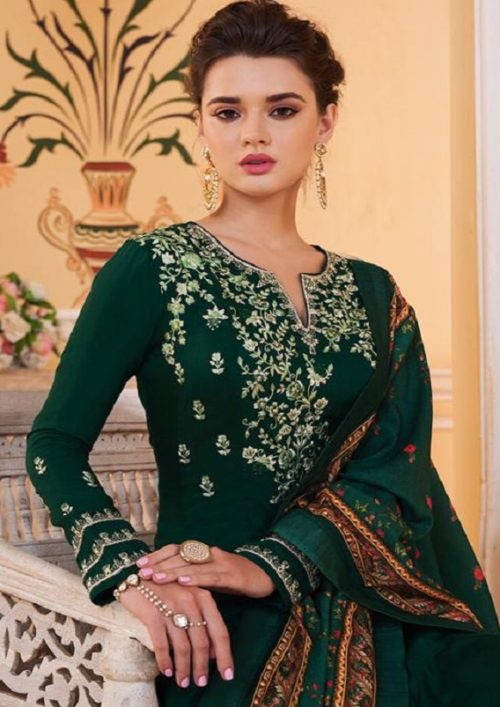 Sajawat Creation Presents Sarthi Vol 09 Readymade Malin Embroidered Suit Collection With Palazzo and Dupatta 763