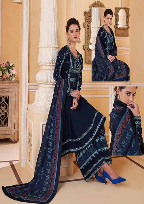 Sajawat Creation Presents Sarthi Vol 09 Readymade Malin Embroidered Suit Collection With Palazzo and Dupatta 765