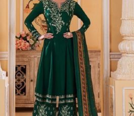 Sajawat Creation Presents Sarthi Vol 09 Readymade Maslin Embroidered Suits Collection With Palazzo and Dupatta 763