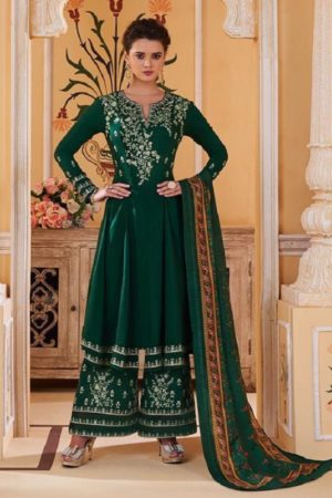 Sajawat Creation Presents Sarthi Vol 09 Readymade Malin Embroidered Suits Collection With Palazzo and Dupatta 763