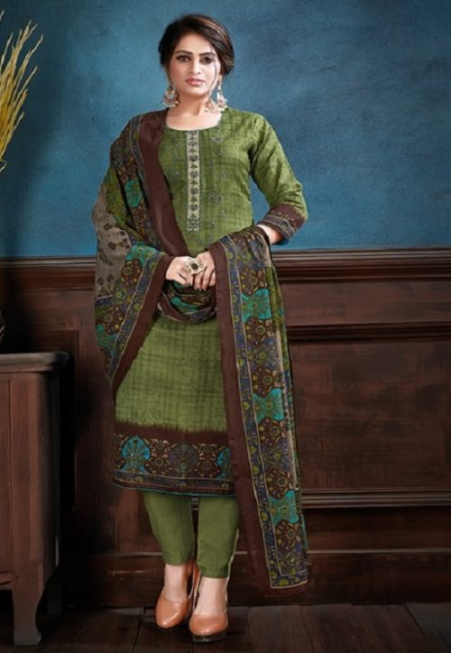 Supriya Fashion Samui Shawl Pure Wollen Pashmina Print and Embroidery Work Salwar Kameez 2007
