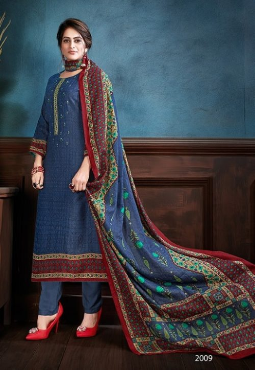 Supriya Fashion Samui Shawl Pure Wollen Pashmina Print and Embroidery Work Salwar Kameez 2009