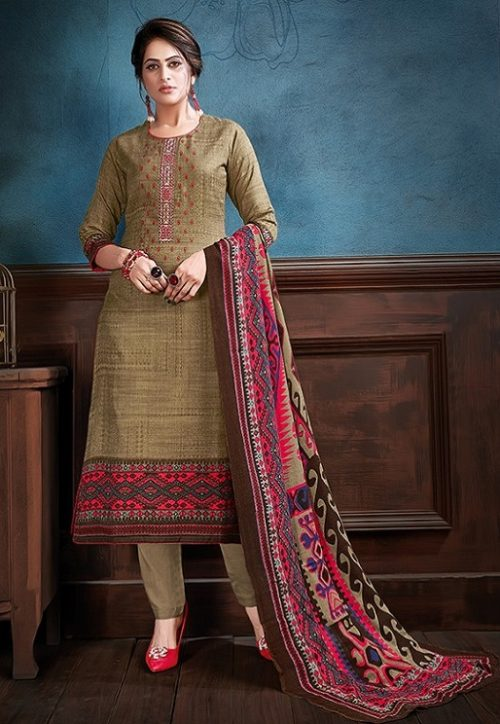 Supriya Fashion Samui Shawl Pure Wollen Pashmina Print and Embroidery Work Salwar Kameez 2010