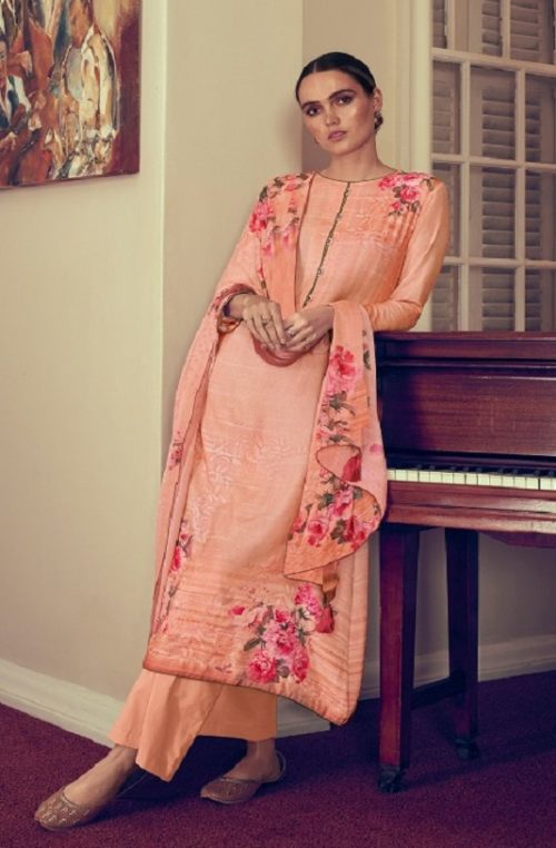Varsha Fashions Presents The Bright Orchid Ibiza Pashmina Digital Prints With knot Work Salwar Suit BO-23