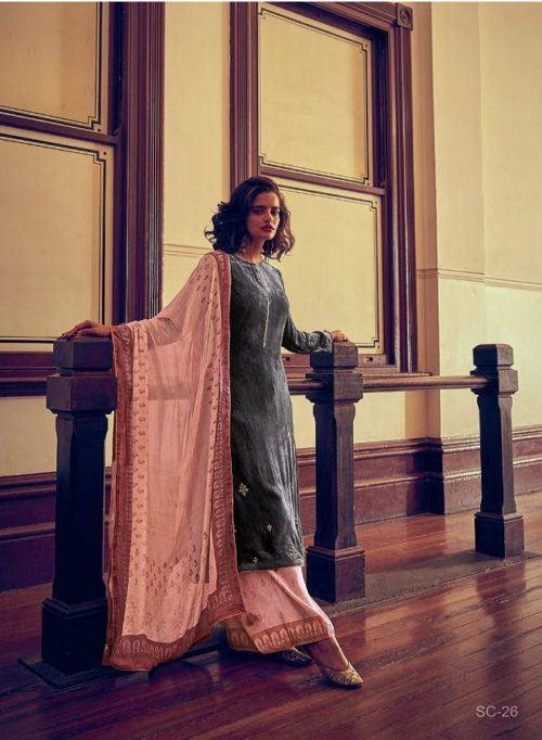 Varsha Presents The Signature Collection Pure Velevt With Cording Work Salwar Suits SC-26