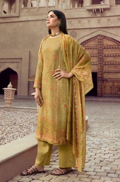 Vinay Fashion Presents Kervin Poonam Pure Cotton Silk With Work Salwar Suits 11224