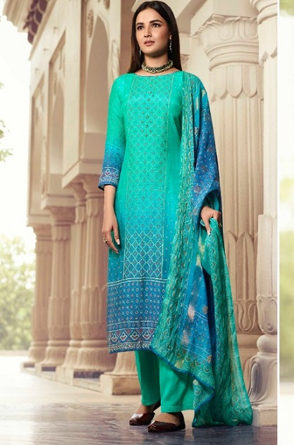 Vinay Fashion Presents Kervin Poonam Pure Cotton Silk With Work Salwar Suits 11227