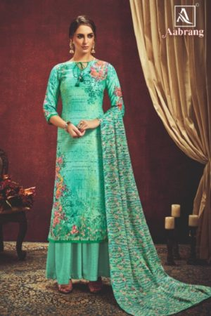 Alok Suit Presents Aabrang Wool Pashmina Jacquard Print With Swarovski Diamond Work Salwar Suit 452-006