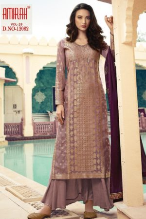 Amirah Presents Vol 29 Pure Dola Viscose Jacquard With Swarovski Diamond Work Designer Suit 12082