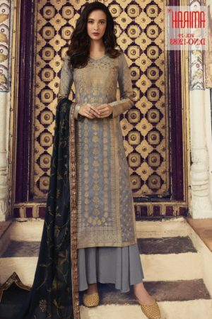 Amirah Presents Vol 29 Pure Dola Viscose Jacquard With Swarovski Diamond Work Designer Suit 12083