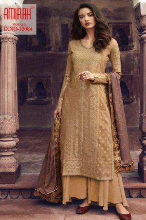 Amirah Presents Vol 29 Pure Dola Viscose Jacquard With Swarovski Diamond Work Designer Suit 12084