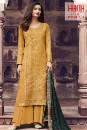 Amirah Presents Vol 29 Pure Dola Viscose Jacquard With Swarovski Diamond Work Designer Suit 12086