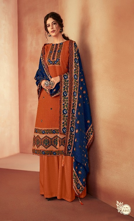 Ankit Textile Presents Kashmira Pure Pashmina Printed with Winter Shawl Unstitched Salwar Suit 5103