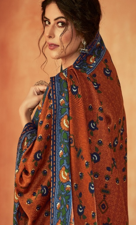 Ankit Textile Presents Kashmira Pure Pashmina Printed with Winter Shawl Unstitched Salwar Suits 5106