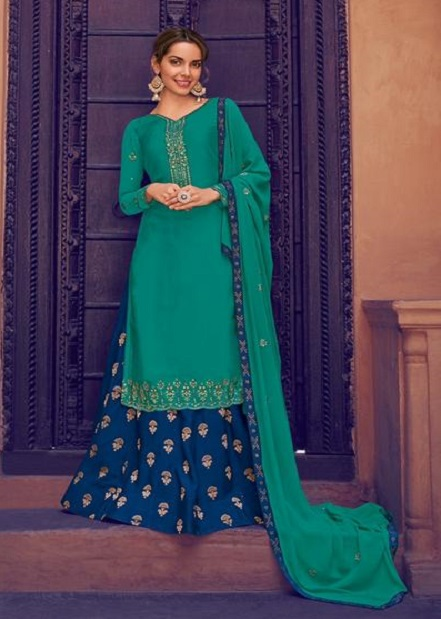 Avon Trendz Presents Arohi 19 Satin Georgette With Embroidery Work Party Wear Salwar Suit 7034