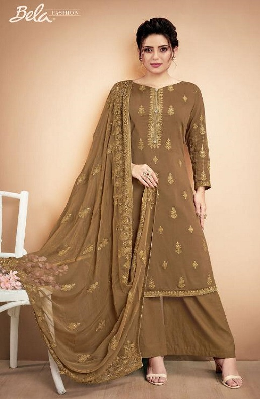 Bela Presents Nazariya 2 Heavy Muslin Embroidery Work Salwar Suit 913