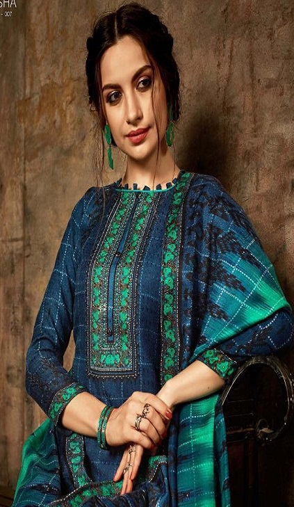 Belliza Designer Studio Presents Aisha 2 Winter Collection Pure Pashmina Digital Style Print Suits 350 007
