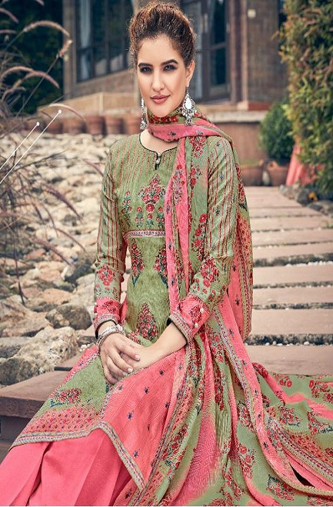 Belliza Designer Studio Presents Masakali 100% Pure Pashmina Digital Style Print Salwar Suits 338-006