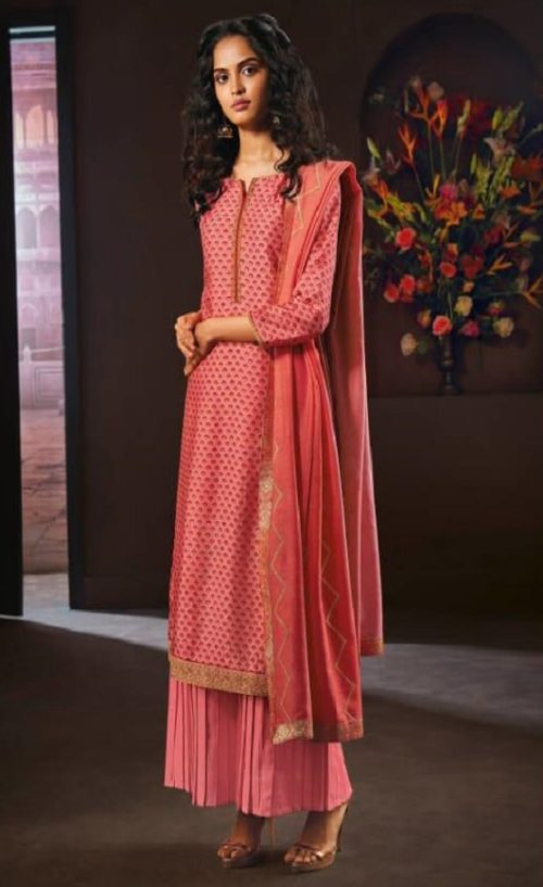 Ganga Presents Avarana Pure Russian Silk Printed With Hand Embroidery and Swarovski Work Salwar Suit 8303