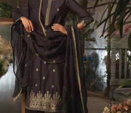 Ganga Presents Ayana Pure Silk Jacquard Extra Sleeves With Embroidery Salwar Suit 7952