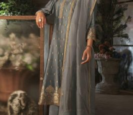 Ganga Presents Ayana Pure Silk Jacquard Extra Sleeves With Embroidery Salwar Suit 7955