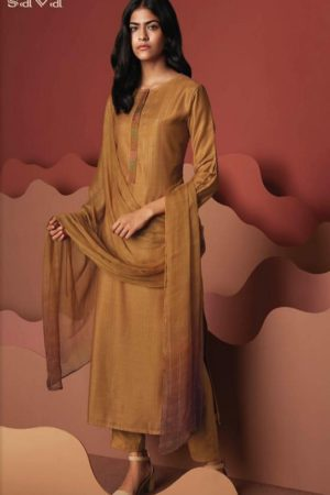 Ganga Presents Sava Hazel Pure Pashmina Digital Print With Embroidery Salwar Suit 1208