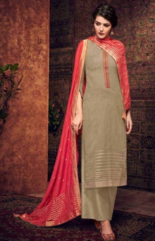 Ibiza Presents Silkoria Pure Pashmina With Jacquard Weaving With Fancy Embroidery Salwar Suit 428